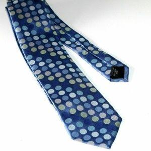 Michael Kors Blue Polka Dot Silk Neck Tie
